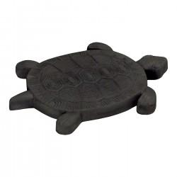 Pas japonais de jardin en pierre reconstituée animaux tortue gris anthracite 30 x 28 x 3 cm