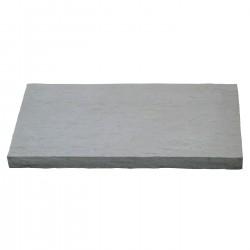 Pas japonais de jardin en pierre reconstituée décors traverse gris clair 54 x 30 x 3,5 cm schiste