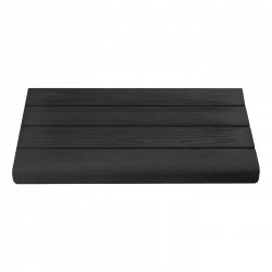 Margelle en pierre reconstituée droite aspect bois 50 x 29,5 x 3,5 cm graphite