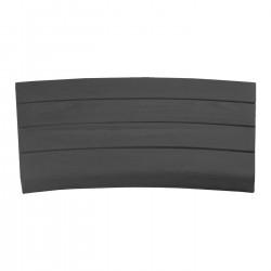 Margelle en pierre reconstituée courbe aspect bois 41 x 29,5 x 3,5 cm graphite
