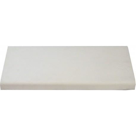 Margelle en pierre reconstituée plate droite 50 x 25 x 4 cm blanc