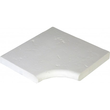 Margelle en pierre reconstituée plate angle rentrant 25 x 25 x 4 cm blanc