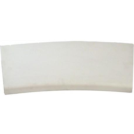 Margelle en pierre reconstituée plate courbe 38 x 25 x 4 cm blanc