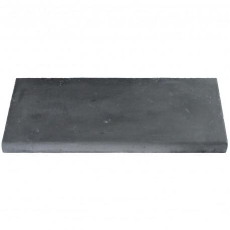 Margelle en pierre reconstituée plate droite 50 x 25 x 4 cm gris anthracite