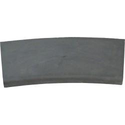 Margelle en pierre reconstituée plate courbe 38 x 25 x 4 cm gris anthracite