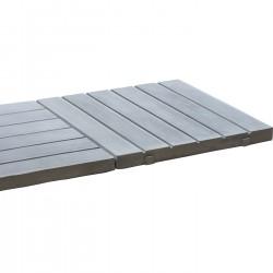 Dalle de terrasse en pierre reconstituée aspect bois 45 x 45 x 3,5 cm bois blanchi