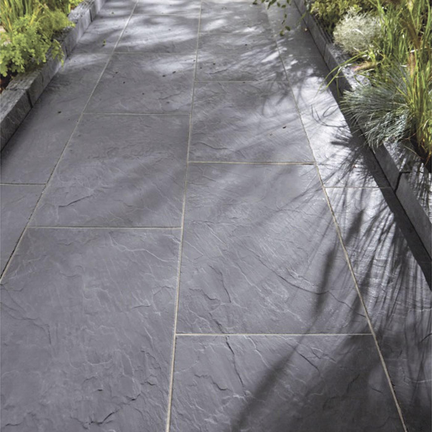 Dalle Ardoise 100 X 30 dalle de terrasse en pierre reconstituée aspect ardoise 60 x