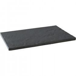 Dalle de terrasse en pierre reconstituée aspect ardoise 60 x 40 x 2,3 cm graphite