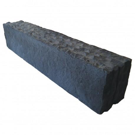 Bordure de jardin en pierre reconstituée aspect ardoise 50 x 8,5 x 10 cm graphite