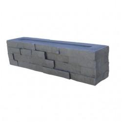 Bloc muret en pierre reconstituée 4 faces 50 x 11 x 12 cm graphite