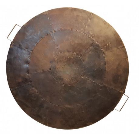 Couvercle en acier recyclé pour barbecue Kadai 60 cm
