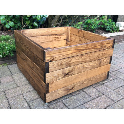 Jardinière en bois carrée séquoia 59 x 59 x 37 cm