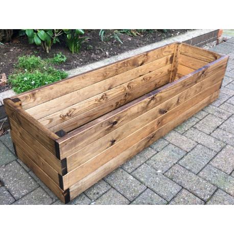 Jardinière en bois rectangulaire 117 x 36 x 30 cm