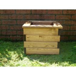 Jardinière en bois carrée séquoia 38,5 x 38,5 x 31,5 cm