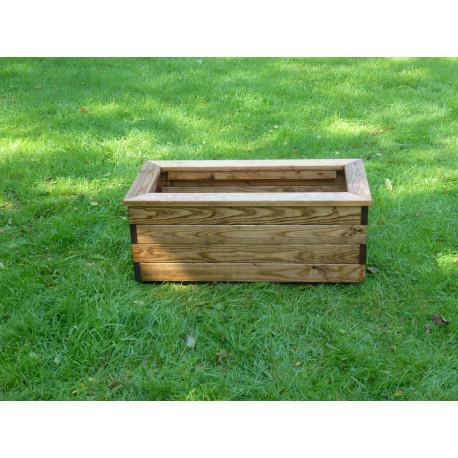 Jardinière en bois rectangulaire 78,5 x 38,5 x 31,5 cm