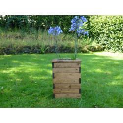 Jardinière en bois carrée 38,5 x 38,5 x 52 cm