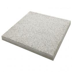 Dalle de terrasse en béton grenaillée 40 x 40 x 4 cm gris clair par palette de 8,96 m2