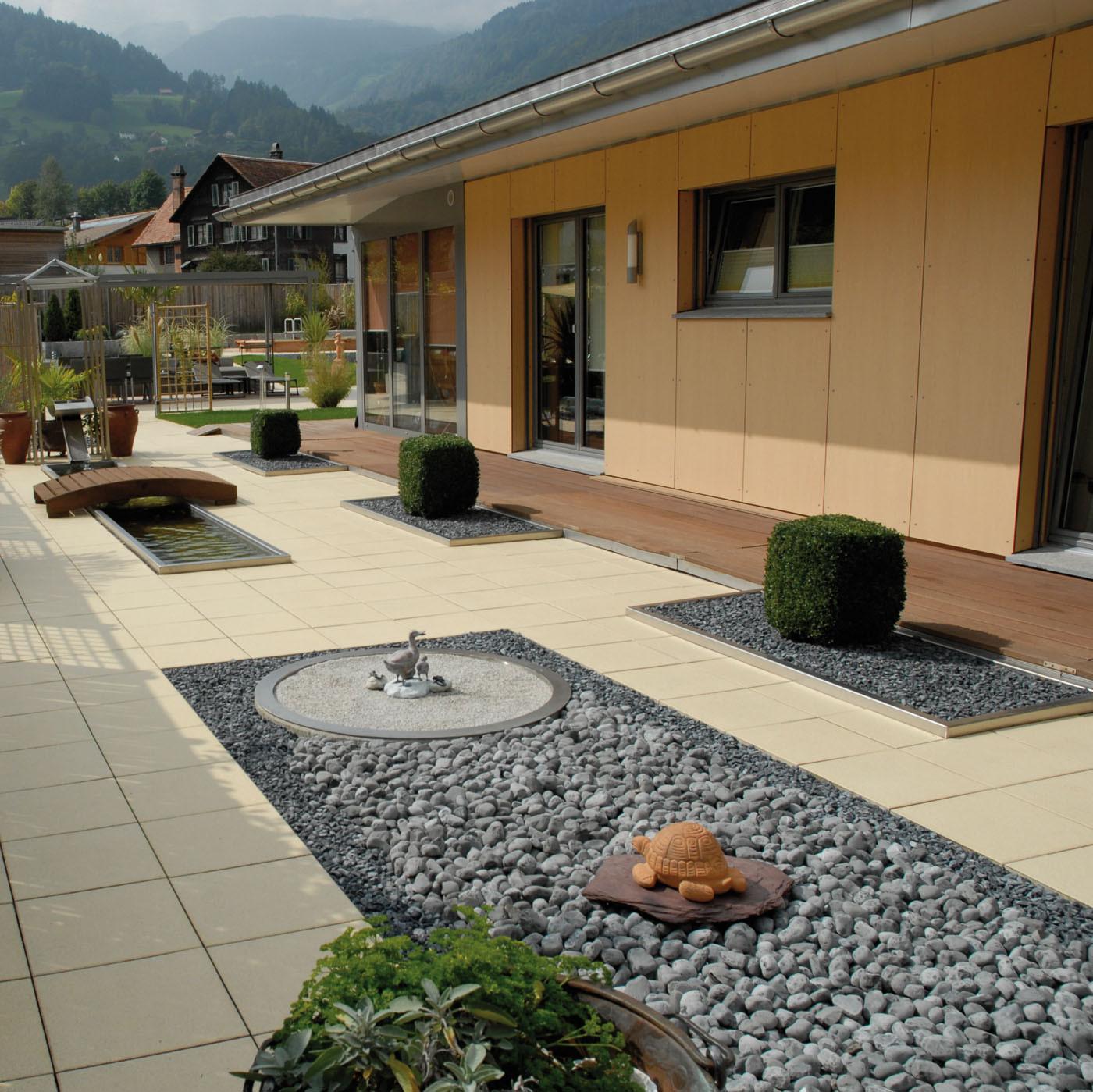Terrasse En Palette Duree De Vie dalle de terrasse en béton grenaillée 40 x 40 x 4 cm blanc