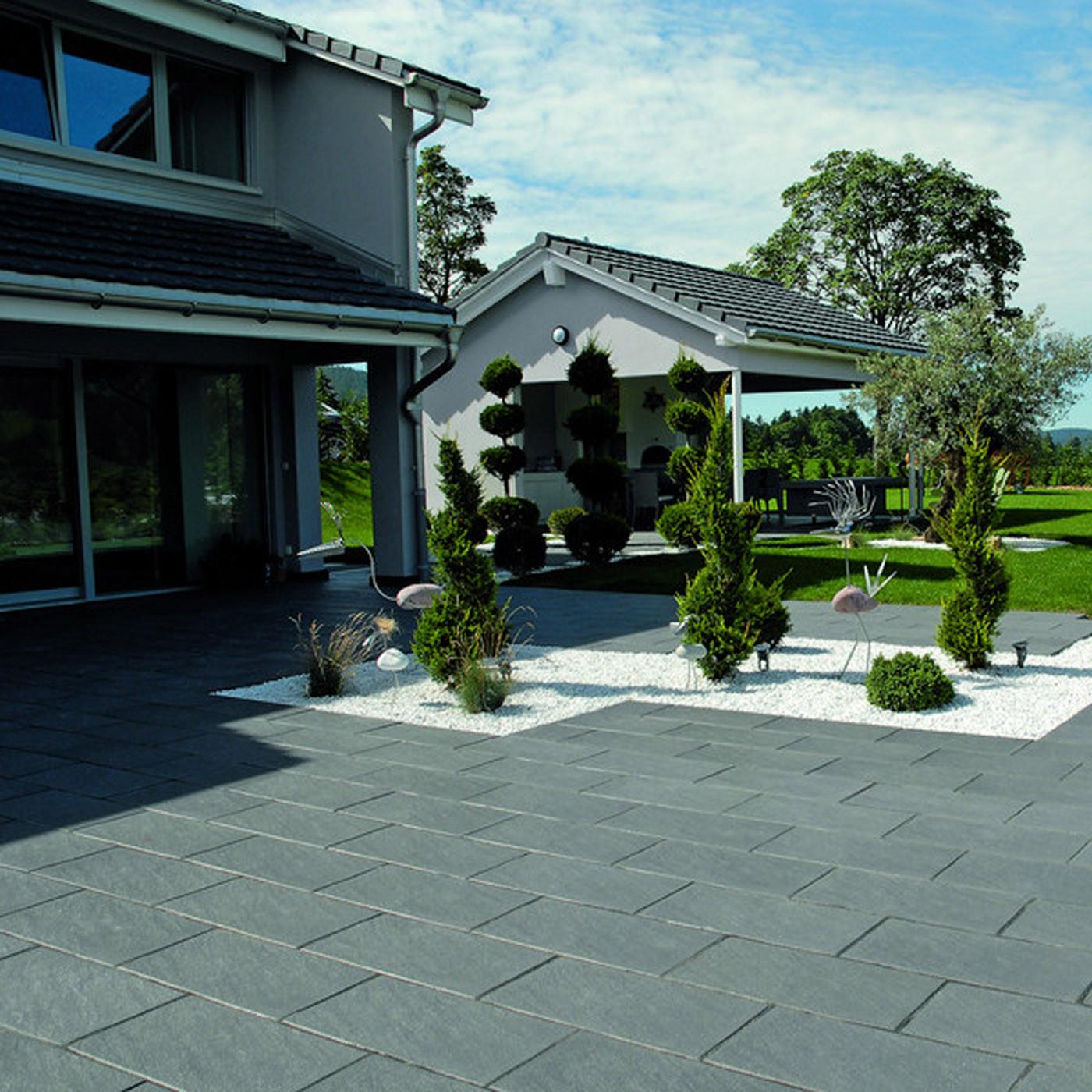 Terrasse En Palette Duree De Vie dalle de terrasse en béton grenaillée 60 x 30 x 4 cm gris