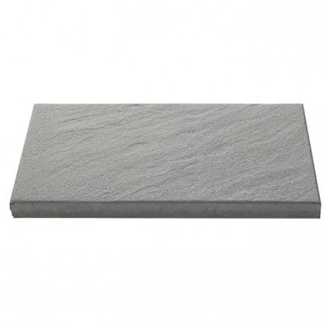 Dalle de terrasse en béton grenaillée 60 x 30 x 4 cm gris anthracite par palette de 6,84 m2