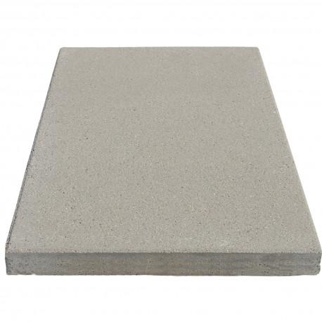 Dalle de terrasse en béton grenaillée 60 x 40 x 4 cm blanc par palette de 8,64 m2