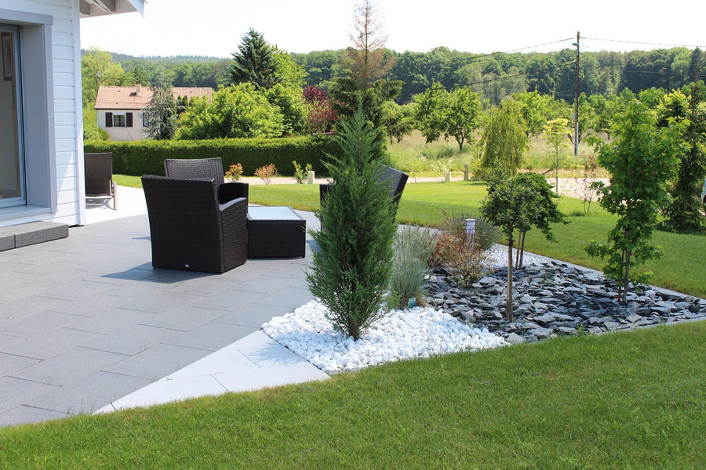 Terrasse En Palette Duree De Vie dalle de terrasse en béton grenaillée 60 x 40 x 4 cm gris