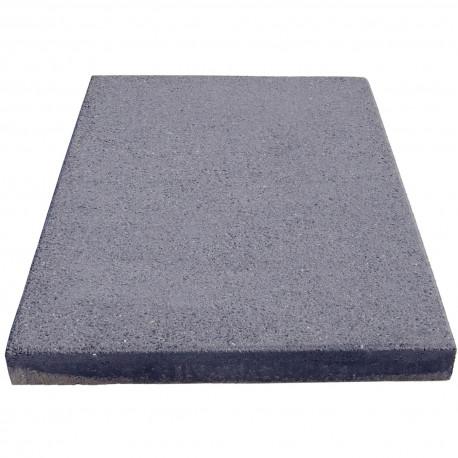 Dalle de terrasse en béton grenaillée 60 x 40 x 4 cm gris anthracite par palette de 8,64 m2
