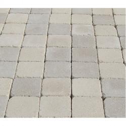 Pavé en béton vieilli 13 x 13 x 5 cm ton pierre par palette de 7,6 m2