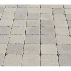 Pavé en béton vieilli 10 x 10 x 3,7 cm ton pierre par palette de 9,6 m2