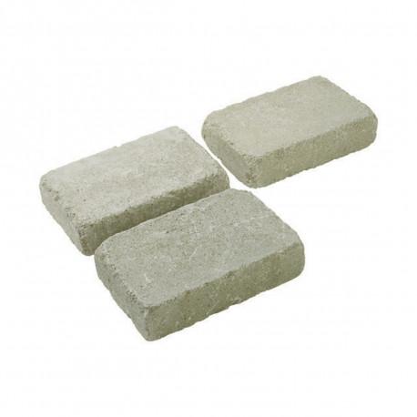 Pavé en béton vieilli 20 x 13 x 5 cm ton pierre par palette de 7,6 m2