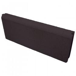 Bordure de jardin en béton pressé 50 x 5 x 20 cm noire