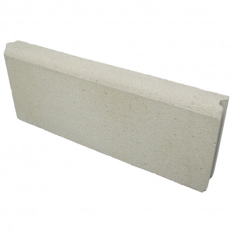 Bordure de jardin en béton pressé 50 x 5 x 20 cm ton pierre
