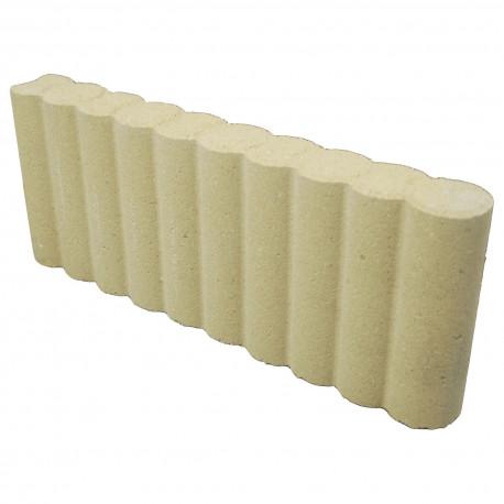 Bordure de jardin colonnade en béton pressé 50 x 6,5 x 20 sable