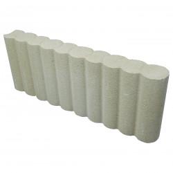 Bordure de jardin colonnade en béton pressé 50 x 6,5 x 20 cm ton pierre