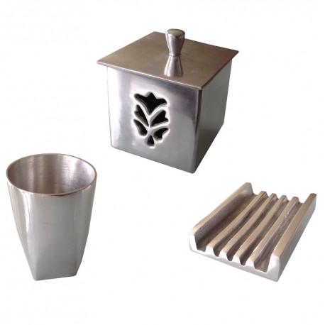 Accessoires de salle de bains aluminium rectangulaire