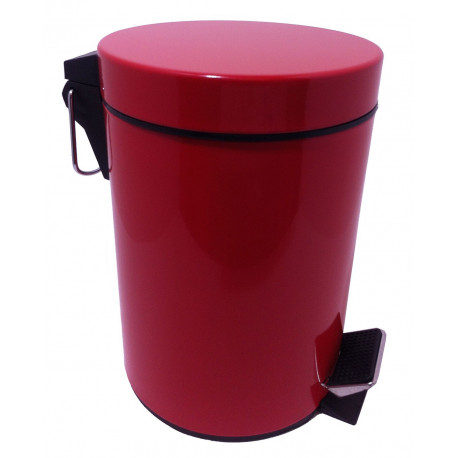 Poubelle de salle de bain rouge