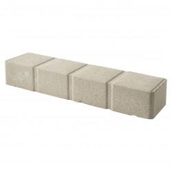 Bordure de jardin pavé en béton pressé 50 x 11,5 x 8 ton pierre
