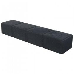 Bordure de jardin pavé en béton pressé 50 x 11,5 x 8 cm noire