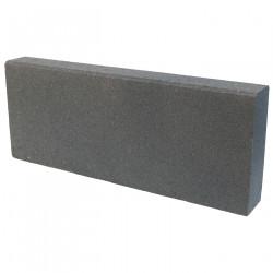 Bordure de jardin torino en béton pressé 50 x 6,5 x 20 cm gris anthracite