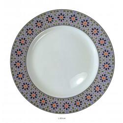 Assiette plate ronde en porcelaine Ø : 20,5 cm blanche
