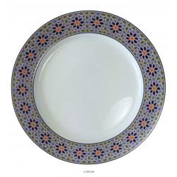 Assiette plate ronde en porcelaine Ø : 25,5 cm blanche