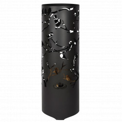 Brasero de jardin en acier cylindrique 39 x 39 x 118 cm motifs oiseaux