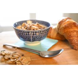 Bol à petit déjeuner en porcelaine 20 cl, bleu