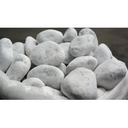 Galets de marbre blanc 40/60 mm