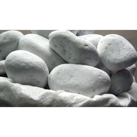 Galets de marbre blanc 60/100 mm
