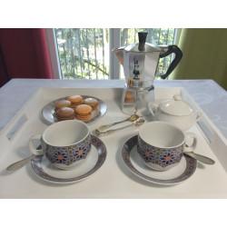 Tasse pour petit déjeuner en porcelaine 15 cl, blanche