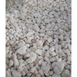 Graviers de marbre blanc 6/8 mm, sac de 25 kg