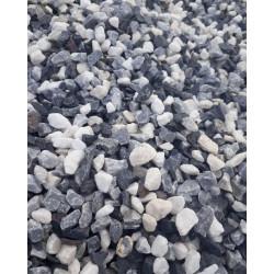Graviers multicolors blanc, gris, noir 8/16 mm, sac de 25 kg