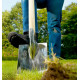 Bêche de jardin en acier et manche frêne 95 cm - POLET
