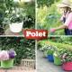 Tubtrug panier de jardin flexible 26L orange - POLET